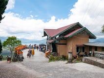 Взгляд от верхней части холма смотря на озеро, озеро Takengon Lut Tawar, Индонезию Стоковые Фото