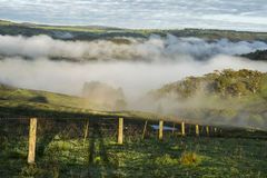 Взгляд от городка сельской местности Lithgow в NSW Австралии стоковые фотографии rf