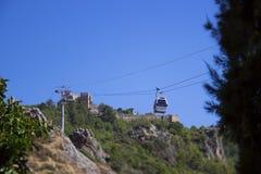 Взгляд от горы на пляже ` s Cleopatra в Alanya Турции стоковые фотографии rf