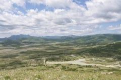 Взгляд от горы Kokljuk, Koktebel, Крыма Стоковое Изображение RF