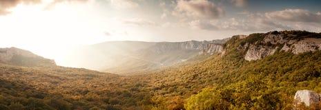 Взгляд от горы Laspi Ilyas Kaya, Крыма, Украины 2016 Стоковая Фотография RF