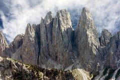 Взгляд от доломитов стоковое фото rf