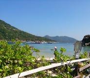Взгляд от залива в Таиланде стоковые фотографии rf