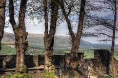 Взгляд от замка Стерлинга, Шотландии стоковое изображение