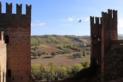 Взгляд от замка замка Arquato стоковое изображение rf