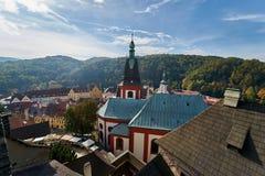 Взгляд от замка Loket стоковая фотография