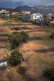 Взгляд от кабеля к Monte, Фуншалу, Мадейре стоковое фото