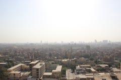 Взгляд от Каира, Египта от мечети ООН ` Qala ibn Мухаммеда al-Nasir султана Стоковая Фотография RF