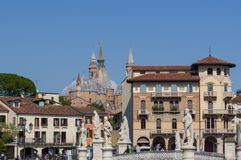 Взгляд от квадрата Valle della Prato в Падуе стоковые изображения