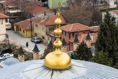 Взгляд от минарета мечети стоковые фото
