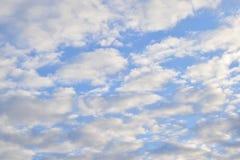 Взгляд от много красивых облаков Стоковые Изображения RF