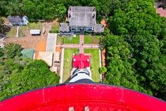 Взгляд от на маяка в Августине Блаженном, Флориде США Стоковое Фото
