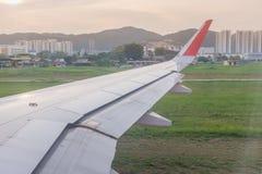 Взгляд от окна воздушных судн, международного аэропорта Penang, Malaysi Стоковые Изображения RF