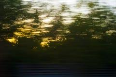 Взгляд от окна поезда стоковые фотографии rf