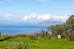 Взгляд от парка Сунь Ятсен мемориального, Мауи стоковая фотография rf