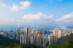 Взгляд от пика Виктории в Гонконге Стоковое Изображение RF