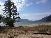 Взгляд от пляжа стоковое фото rf