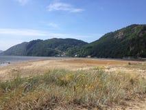 Взгляд от пляжа стоковые фото