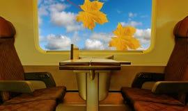 Взгляд от поезда. стоковое изображение