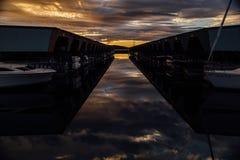 Взгляд от пристани Des Moines в Вашингтоне Стоковые Фото