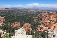 Взгляд от пункта радуги в национальном парке каньона Bryce Стоковые Изображения