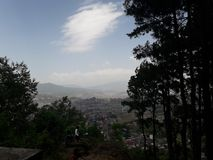 Взгляд от скалы стоковое фото rf