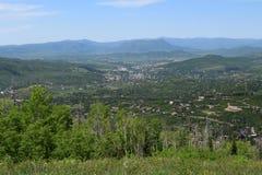 Взгляд от следа Thunderhead, Steamboat Springs, Колорадо Стоковое Изображение RF