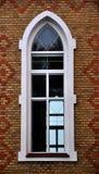 Взгляд от улицы на окнах металл-пластмассы Стоковые Фото
