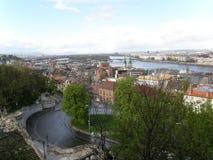 Взгляд от холма Buda, Будапешт, Венгрии Стоковая Фотография RF