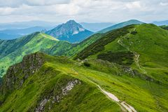 Взгляд от холма Chleb Стоковые Изображения RF