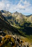 Взгляд от холма Velka Svistovka в высоких горах Tatra Стоковые Изображения