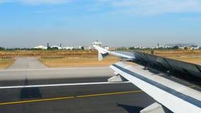 Взгляд от ariiving самолета сток-видео