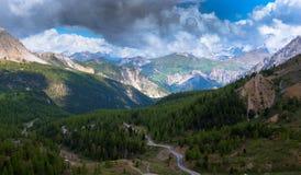 Взгляд от ` Izoard Col d стоковая фотография