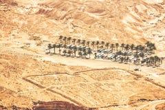 Взгляд от Masada на пустыне на солнечный день стоковые фотографии rf