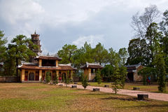 Взгляд пагоды Thien Mu двора Стоковое фото RF