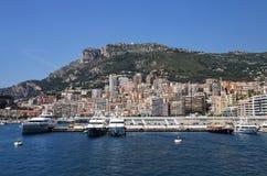 Взгляд палаты Condamine Ла и порта Геркулеса в Монако Стоковая Фотография