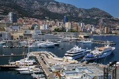Взгляд палаты Condamine Ла и порта Геркулеса в Монако Стоковые Изображения