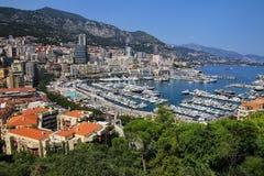 Взгляд палаты Condamine Ла и порта Геркулеса в Монако Стоковое Изображение RF