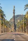 Взгляд памятника Christopher Columbus в Барселоне, Испании стоковая фотография