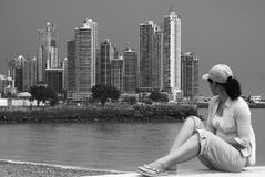 взгляд Панамы города Стоковая Фотография
