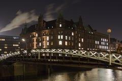 Взгляд панорамы города Гамбурга, Германии стоковые изображения rf