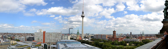 взгляд панорамы города berlin Стоковые Изображения