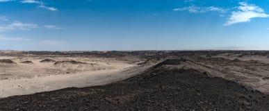 Взгляд панорамы ландшафта луны, или лунный ландшафт около Swakopmund, Намибии Стоковые Изображения