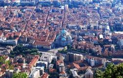 Взгляд панорамы на старом городе Como, Италии стоковые изображения rf