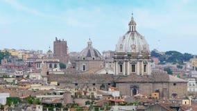 взгляд панорамы Рима, Италия, 4k сток-видео