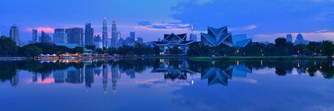 Взгляд панорамы центра города Куалаа-Лумпур стоковые изображения rf