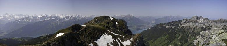 взгляд панорамы alps bernese Стоковое Изображение