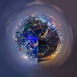 Взгляд 360 панорам высокий реки в городе стоковая фотография