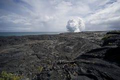 взгляд пара лавы поля облака стоковые фотографии rf