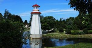 Взгляд парка Веллингтона в Simcoe, Онтарио 4K акции видеоматериалы